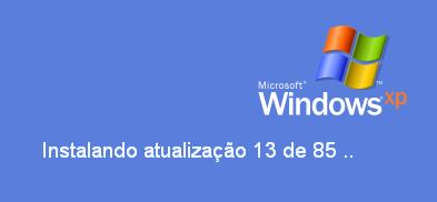 Instalando atualização 13 de 85 (Windows XP)
